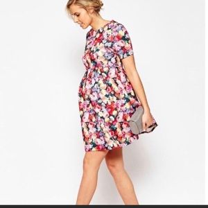 BNWT 🌺🤰🏻ASOS maternity floral mid length dress